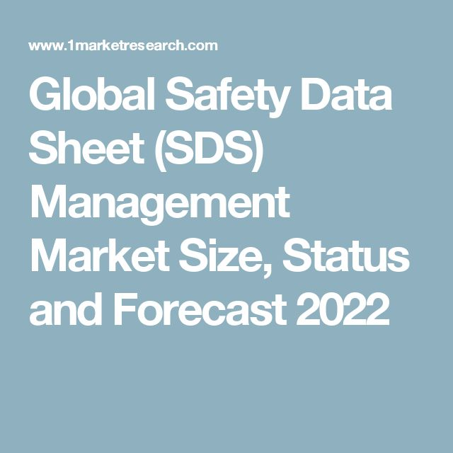 Global Safety Data Sheet (SDS) Management Market Size, Status and Forecast 2022