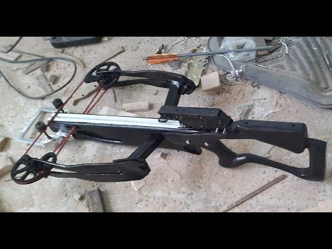 how made a powerful homemade reverse compound crossbow 1/2 - YouTube