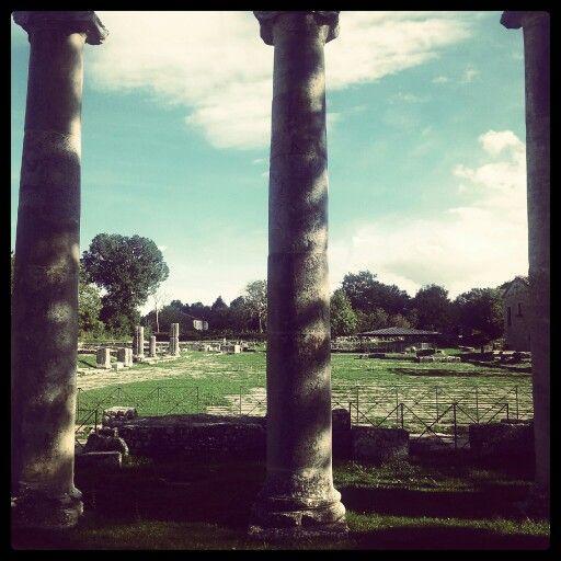 Saepinum. Il Foro inquadrato dalle colonne della basilica. ©F Laurelli 2012