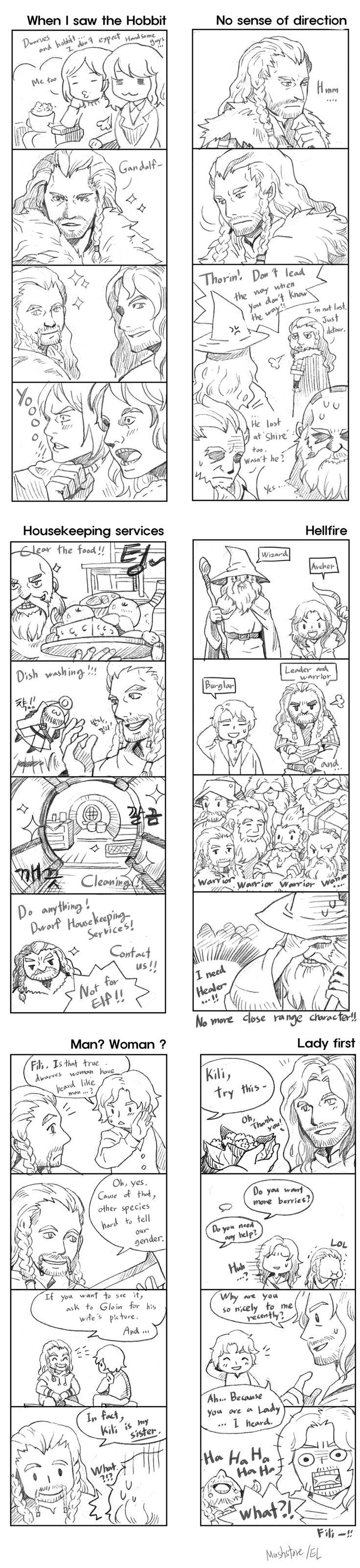 The Hobbit: An Unexpected Journey / 4 cut comics by Mushstone.deviantart.com on @deviantART