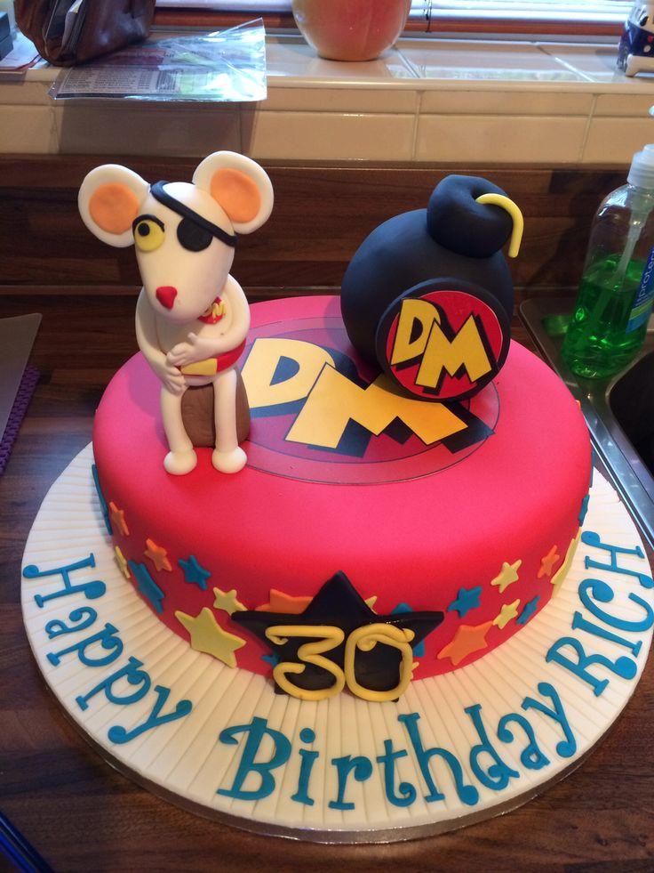 Birthday cake for a danger mouse fan
