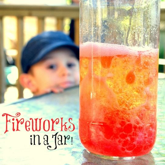 This fun chemistry activity for kids is a colourful, bubbly, streaming reaction that reminds me of mini explosions and so I've named it Fireworks in a Jar!