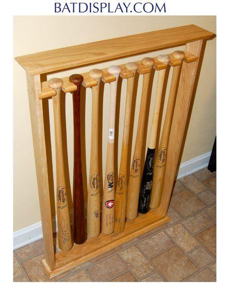 Eight Baseball Bat Floor Stand Display Rack Baseball