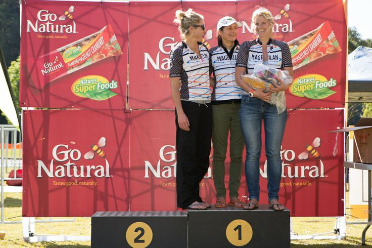 Go Natural Multisport 2013 - Ku-ring-gai Chase NP, NSW. (left-right) Regan Ellis, Dee Calvesbert and Carrie Ade of Team Magellan, who took 1st place. See more: http://www.magellangps.com.au/blog/race-report-go-natural-multisport-ku-ring-gai-chase-np-nsw/