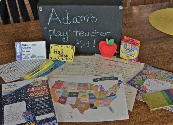 "A homemade "" Play teacher"" kit. fun Christmas gift for any kid."