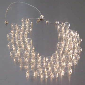 Soap bubble ethereal jewelry made by sister designers