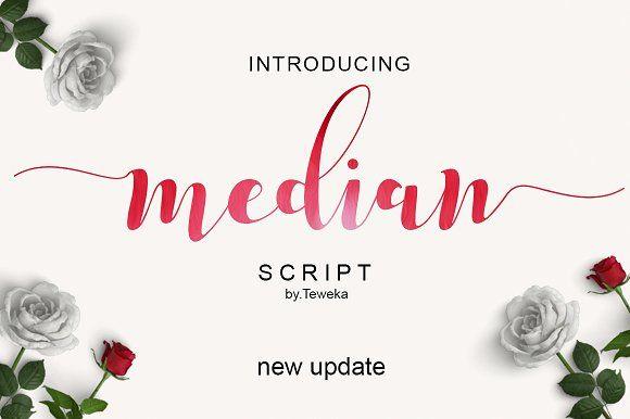 Median Script by Teweka on @creativemarket