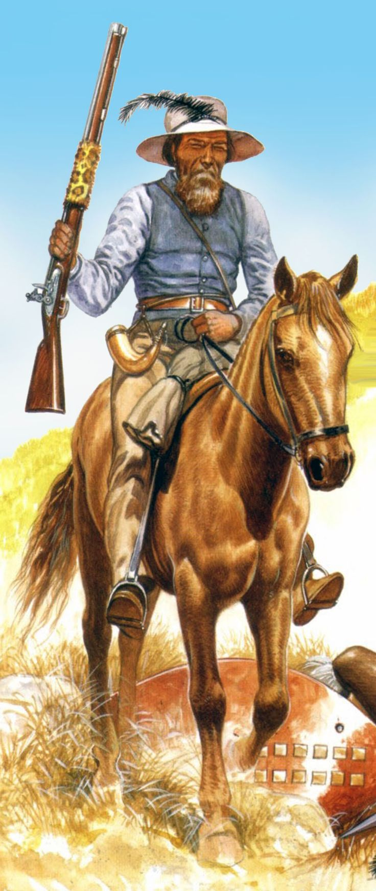 Boer horseman. This could easily be Bertrand, Christaan's right hand man, confidant, and conscience.