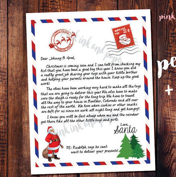 The  Best Personalised Santa Letter Ideas On   Letter