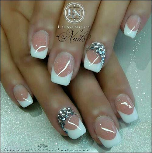 Top 50 Most Stunning Wedding Nail Art Designs Luminous Nails Wedding Nails Nails