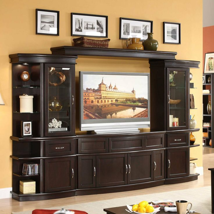 lamar 4 piece wall unit with 60 in tv console centers at hayneedle