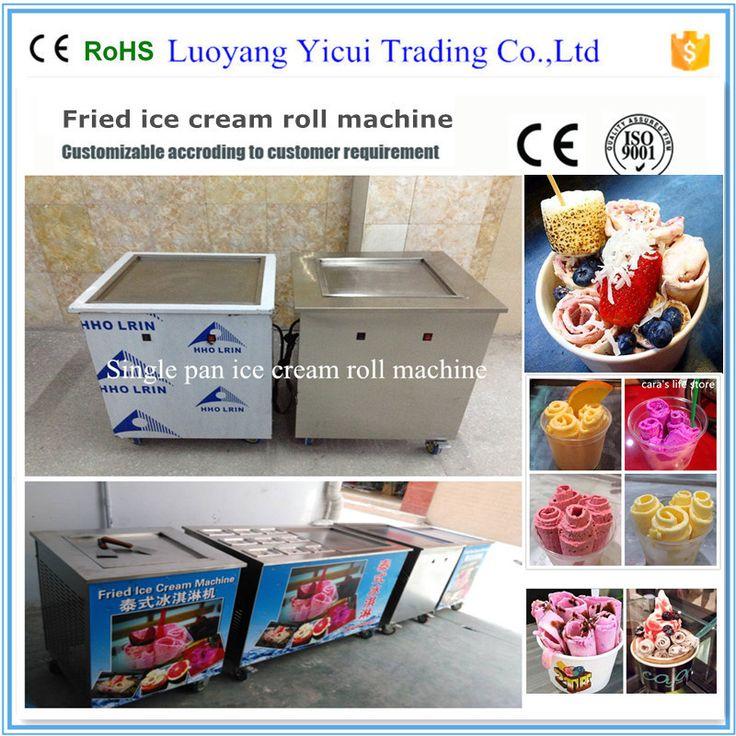 Energy Saving Single Flat Pan Fried Ice Cream Machine For Sale