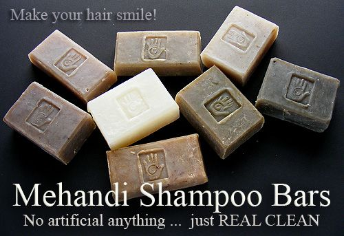 After dying my hair various colors (including blonde), switching to henna & cassia was a revelation.  Mehandi shampoo bars make thick cleansing suds, and wash easily and completely out of your hair. These soaps don't leave a residue: all you have is clean, healthy, fragrant hair.
