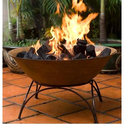 Garden Accessories -- Free Standing Cast Iron Fire Pit/Pond/Planter from Earth Homewares