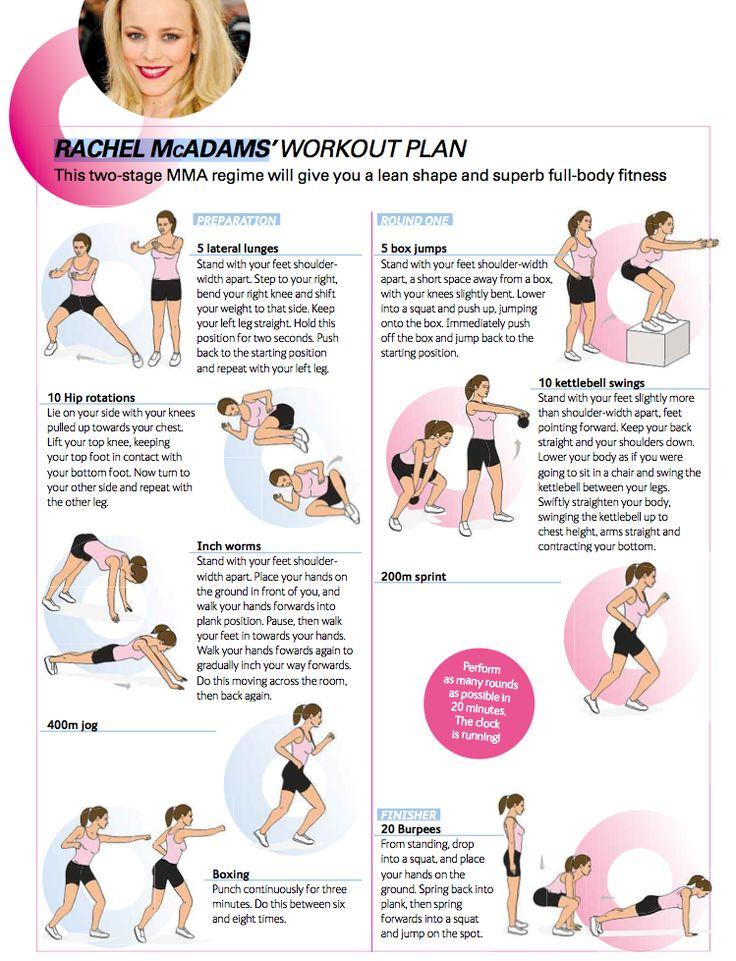 Rachel McAdams Work Out Plan