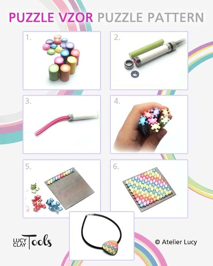 Don't you know what to make from polymer clay this week? Why not try this amazing puzzle pattern from Czextruder?