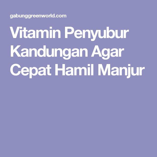 Vitamin Penyubur Kandungan Agar Cepat Hamil Manjur