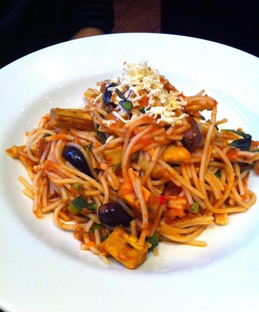 with spiced tofu, artichoke hearts, carrots, leeks, roasted fennel ...