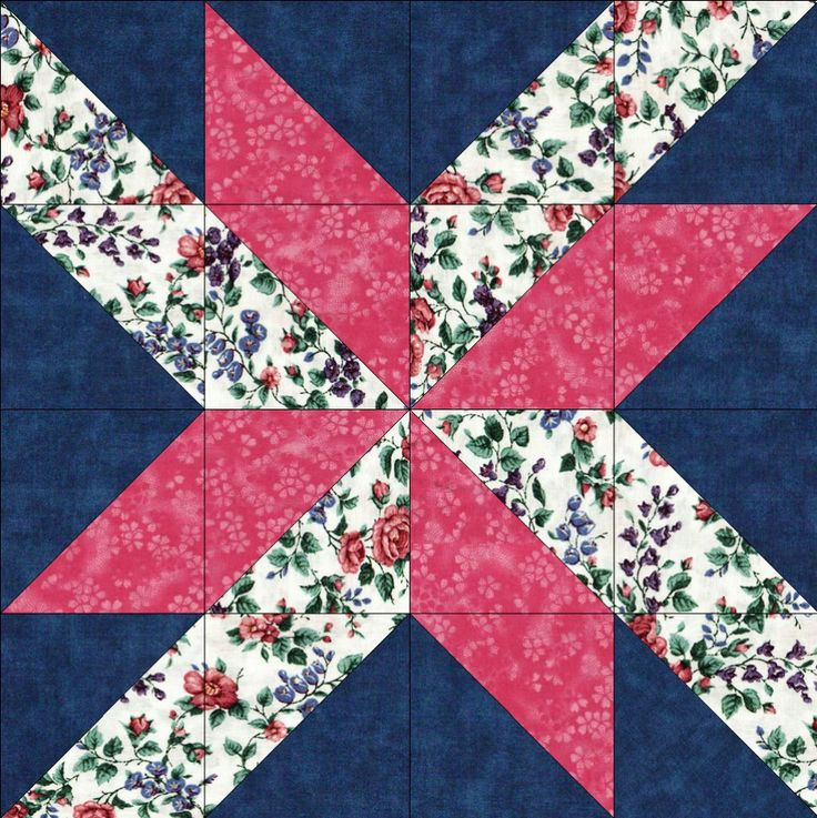 Quilt kit features beautiful Lily of the Valley and trumpet flowers in tones of pink, blue and plum along with green stems and leaves on a white background. A nice raspberry pink tonal and dark navy b                                                                                                                                                                                 More