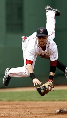 Dustin Pedroia.  He plays for the love of the game, and his spirit is in it to win it.  I really believe he would be playing even without the money and fame.  That kind of passion I can only dream about right now.