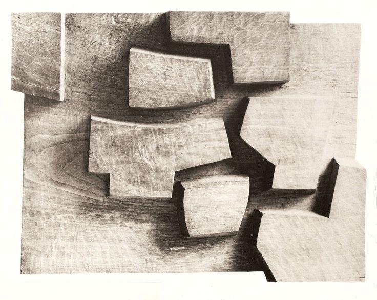 Eduardo Chillida The work of this artist reminds me of figure ground mapping and architectural models.