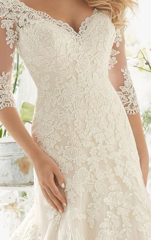 Lace Princess Mermaid Wedding Dresses at Bling Brides Bouquet online Bridal Store