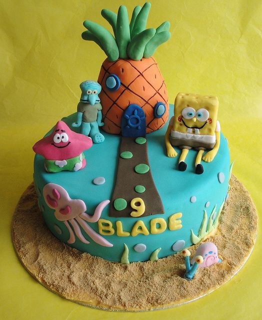 Spongebob Squarepants Cake By The Grove Coach Kitchen, Via