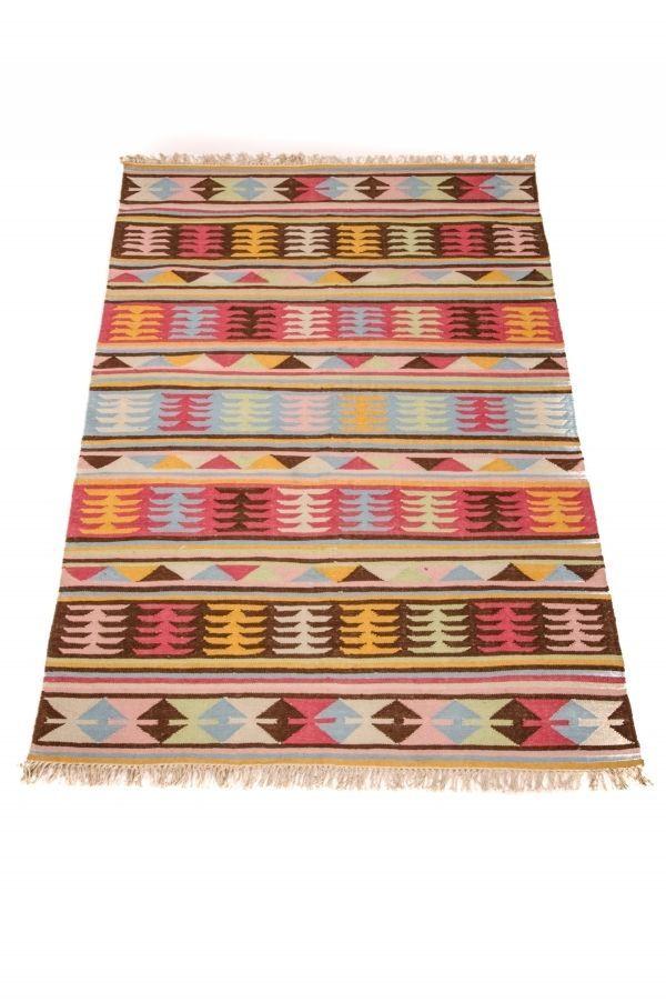 Indischer Orientalischer Wohnzimmer Teppich Kelim Baumwolle Handarbeit 150x240cm In Mbel Wohnen Teppiche Teppichbden