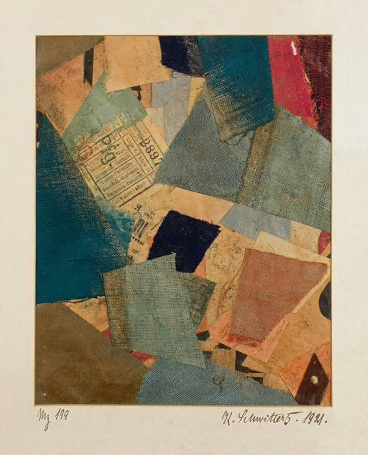 "Artist, poet, and typographer Kurt Schwitters was born on this date in 1887. ""Mz 199"" (1921), on view in Visionaries: Creating a Modern Guggenheim, is an example of one of the artist's signature assemblages, featuring tram tickets, postage stamps, beer labels, newspaper clippings, fabric swatches, and the like found on the streets of his home city, Hannover. Learn more: http://gu.gg/TbuN301rIHI"