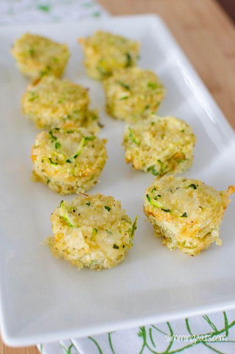 Zucchini and Parmesan Quinoa Bites | Slimming Eats - Slimming World Recipes #slimmingworld