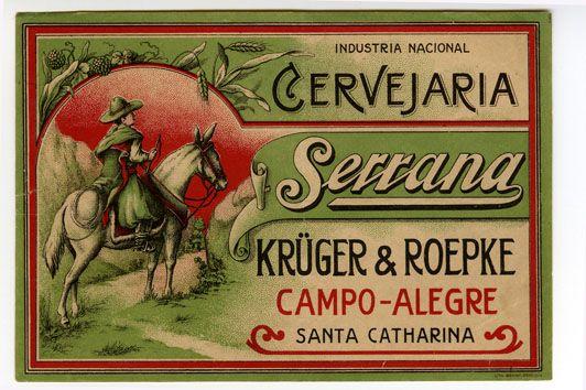 Cerveja Serrana - beer label