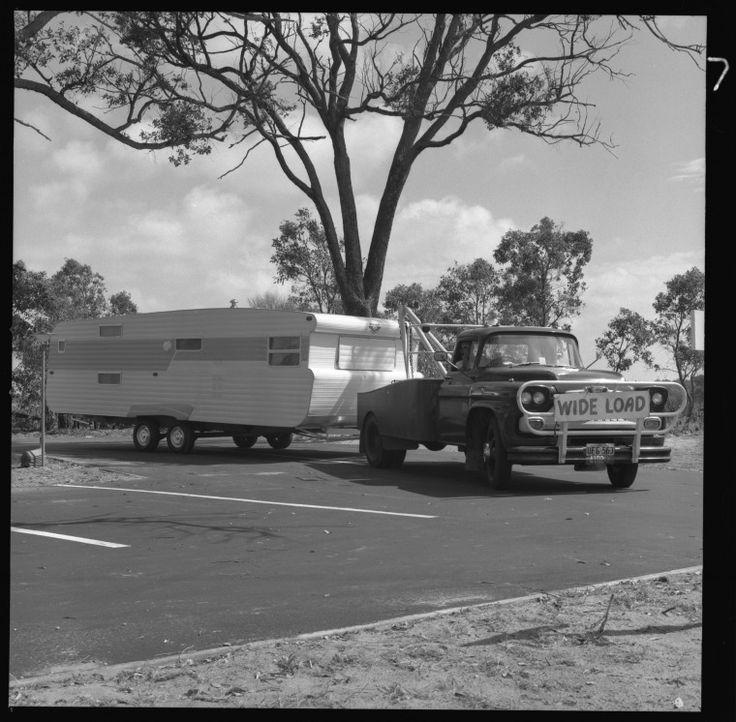 359677PD: Viscount Ambassador tandem axle caravan being towed by a Viking 44 Chevrolet tow truck, 1973 https://encore.slwa.wa.gov.au/iii/encore/record/C__Rb3096506