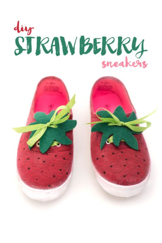 DIY Strawberry Sneakers | eBay