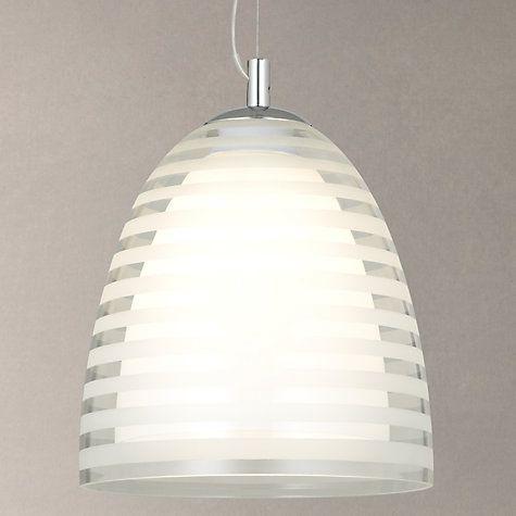 Buy John Lewis Amaury Stripe Glass Pendant Light Online at johnlewis.com
