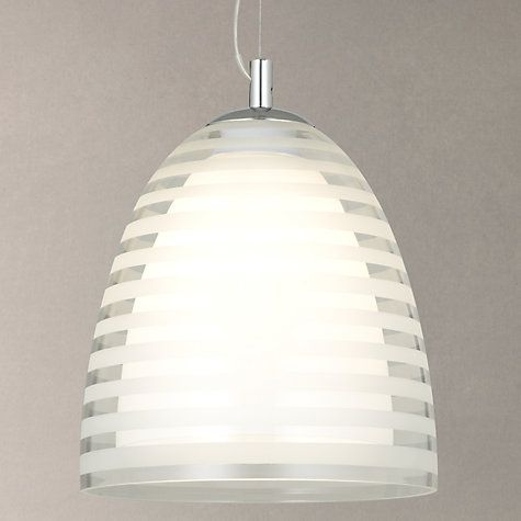 Buy John Lewis Amaury Stripe Glass Pendant Light Online At Johnlewis