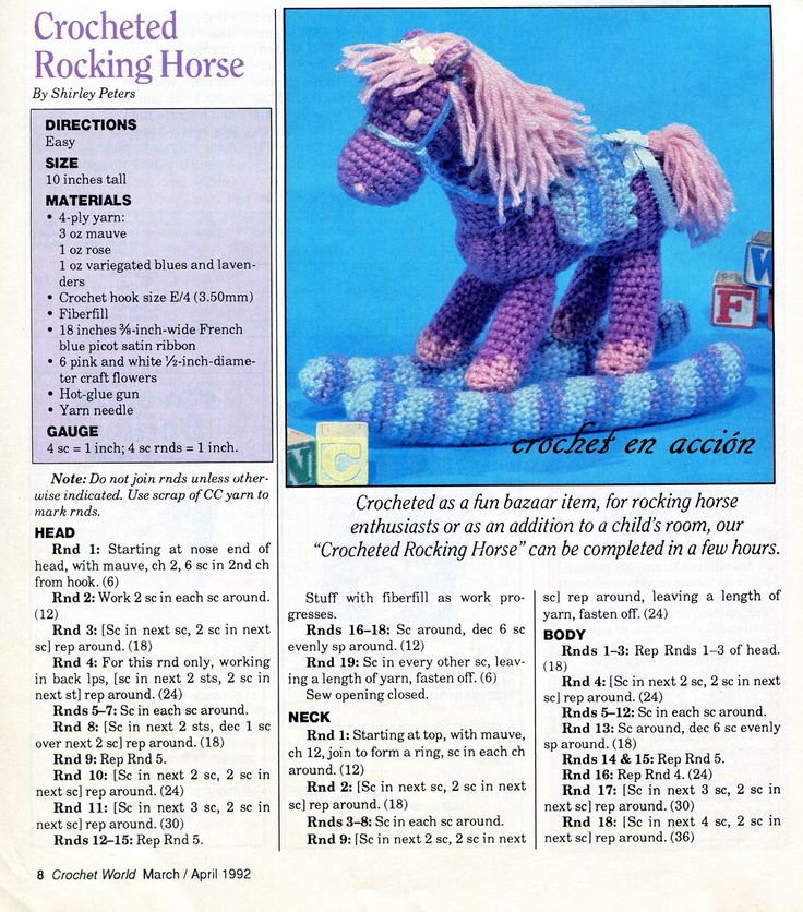 Amigurumi Horse Free : 16 best images about Horses in crochet on Pinterest ...