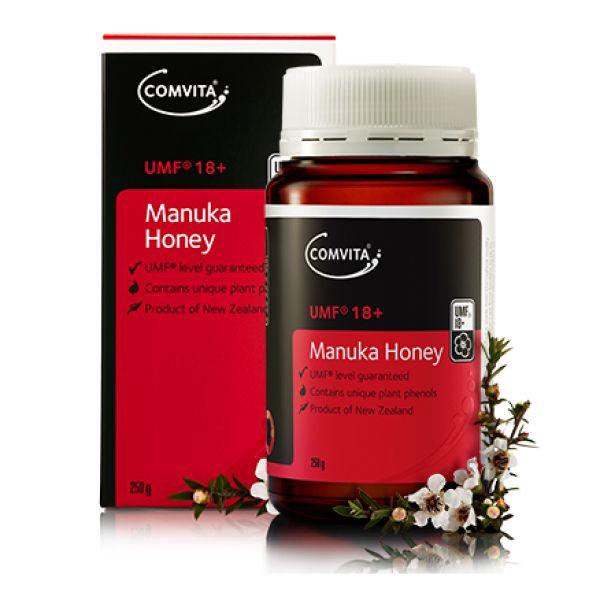 Miere de Manuka UMF®18+ 250gr. cea mai buna Miere din lume.Adevarata miere de Manuka este produsa numai in Noua Zeelanda si pentru a va asigura de calitatea produsului achizitionat, va recomandam sa alegeti mierea ce are factorul UMF® indicat pe ambalaj.