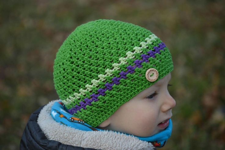 Crochet spring hat for boys💚