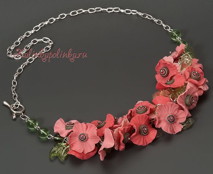 master_klass: Цветы из полимерной глины. Летние украшения для хорошего настроения.