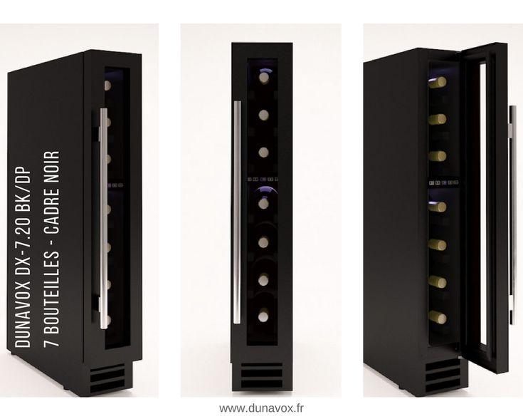 La cave à vin Dunavox DX-7.20BK/DP, d'une capacité de 7 bouteilles, est à encastrer sous un plan de travail. Les dimensions ont été étudiées pour s'insérer dans la niche habituellement utilisée comme placard à épices : Hauteur 825 mm / Largeur 148 mm / Profondeur 525 mm. En savoir + : https://dunavox.com/fr/product/dunavox-dx-720bkdp