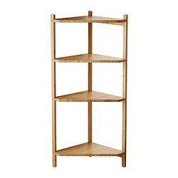 IKEA - RÅGRUND, Corner shelf unit, , Bamboo is a hardwearing natural material.