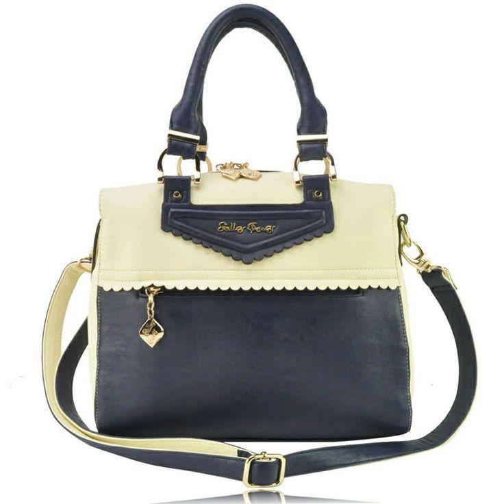 Sally Young Colour Block Scallop Trim Brand Bag £40
