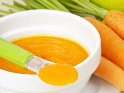 Receta de Papilla de manzana y zanahorias