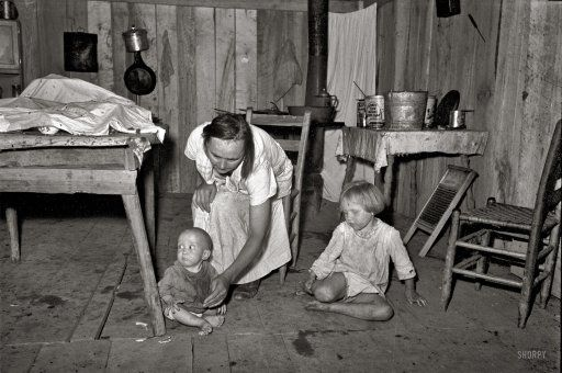 1938, home of sharecroppers, Missouri