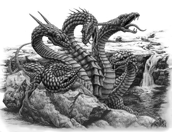 Best 99 Hydra ideas on Pinterest | Mythical creatures ... Greek Mythology Hydra