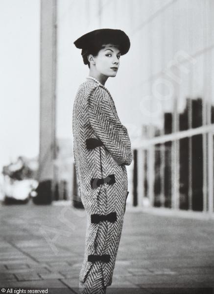 photo: Bruno Bernini - Bambi Shmith (Countess of Harewood) Wearing a Tweed Ensemble by Hall Ludlow, University of Melbourne. Australia