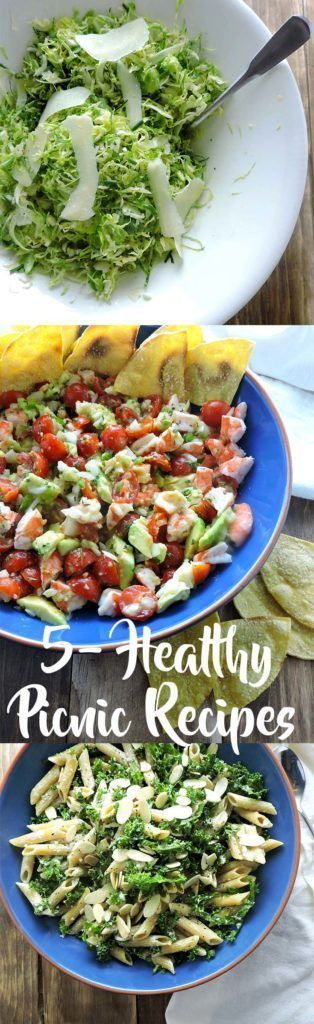 5 Healthy Picnic Recipes you can bring to your next gathering. Salads, desserts and appetizers that are delicious and won't weigh you down. |FreshFitKitchen.com