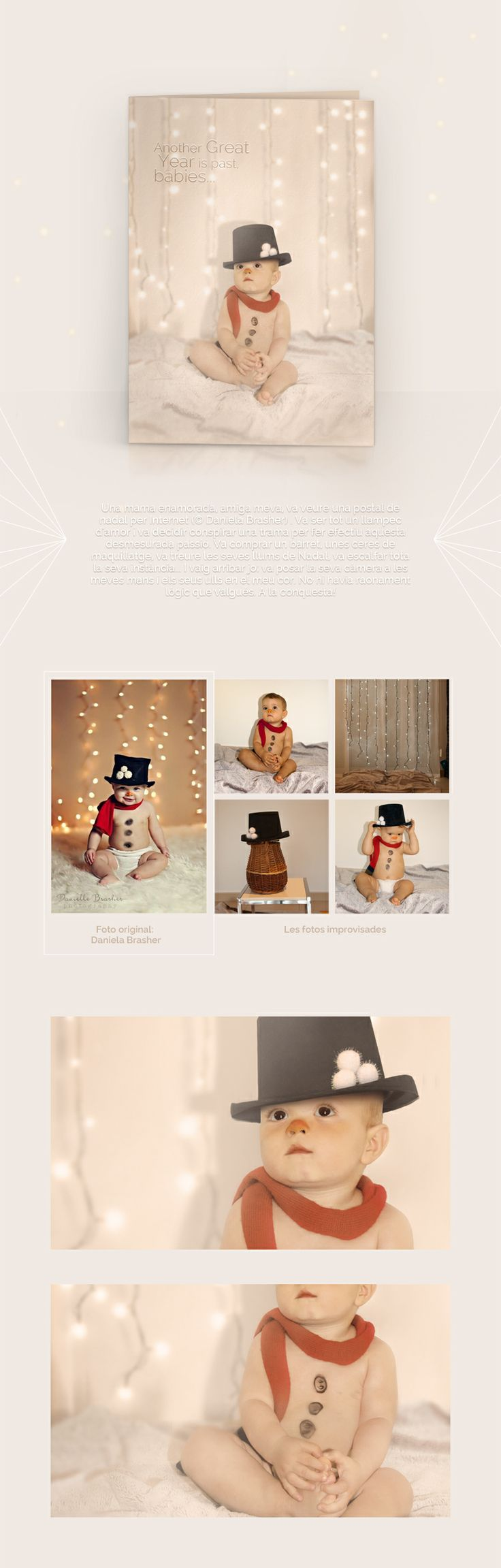 Una mama enamorada, amiga meva, va veure per internet una postal (© Daniela Brasher). Es va enamorar i va planificar una estratègia per fer-me particip d'aquesta passió desborda ;). Bon Nadal des del Dolç Petit i Tossut Mario! :D!