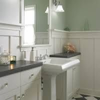 Image result for colonial revival bathroom wood wainscot