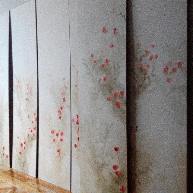Efimera#handpaintedwallpaper #buenaventurawallart#decoraccion2015